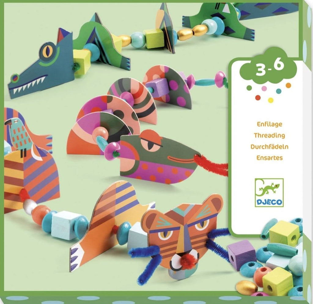 Djeco - My Animal Threading - Meli & Ro | Kids Activity Packs