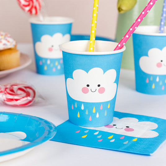 Happy Cloud Paper Cups (set Of 8) - Meli & Ro | Kids Activity Packs