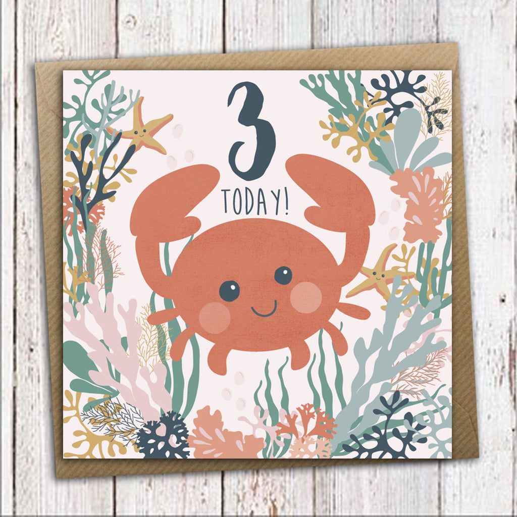 Under the Sea 3rd Birthday Card - Meli & Ro | Kids Activity Packs