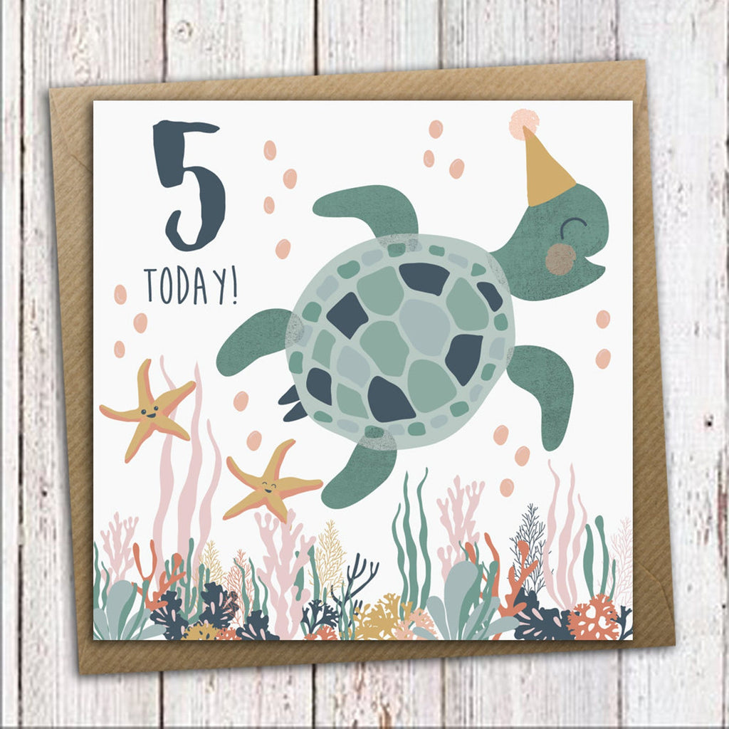 Under the Sea 5th Birthday Card - Meli & Ro | Kids Activity Packs