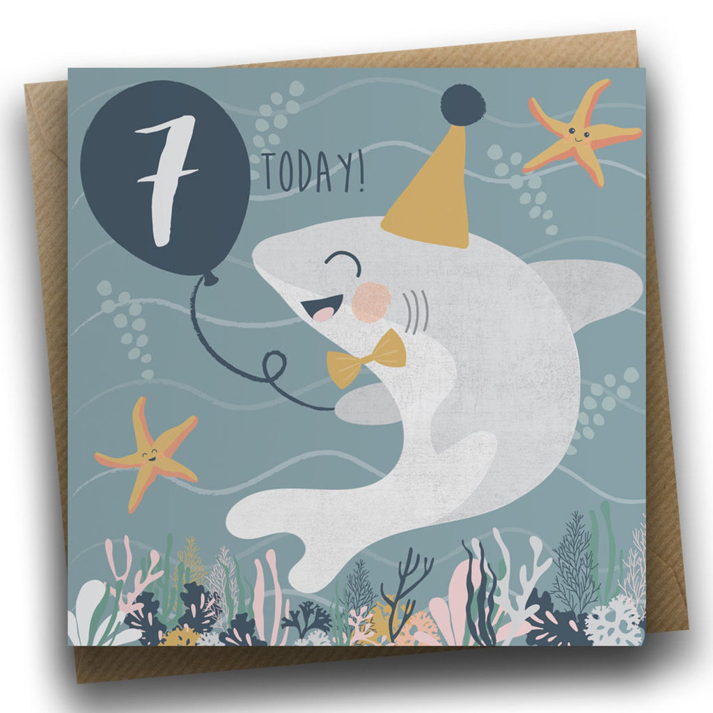 Under the Sea 7th Birthday Card - Meli & Ro | Kids Activity Packs