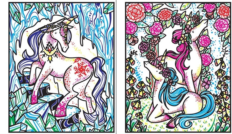 Magic painting unicorns Activity book - Meli & Ro | Kids Activity Packs