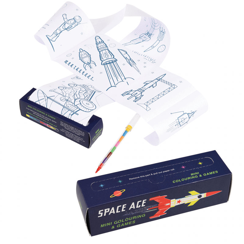 Space Age Mini Colouring And Games  | Kids Activity sets - Meli & Ro