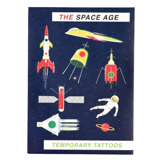 Space Age Temporary Tattoos (2 Sheets) - Meli & Ro | Kids Activity Packs