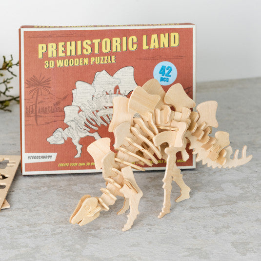 Stegosaurus 3d Wooden Puzzle - Meli & Ro | Kids Activity Packs
