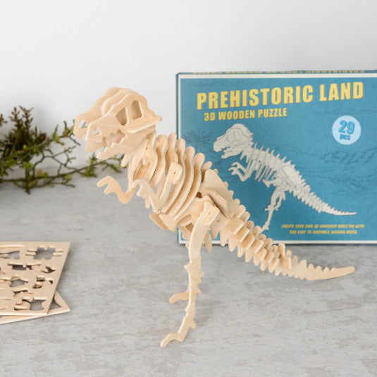Tyrannosaurus 3d Wooden Puzzle - Meli & Ro | Kids Activity Packs