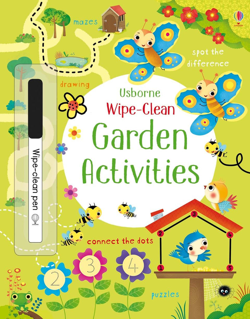 Wipe-clean garden activities - Meli & Ro | Kids Activity Packs