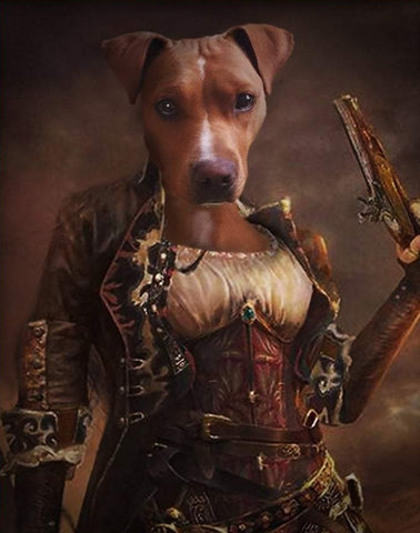 Pet Portrait - Female Pirate