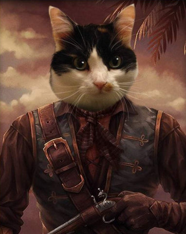 Pet Portrait - Male Pirate #4