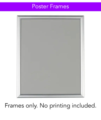 Poster Frames (Printing Not Included)