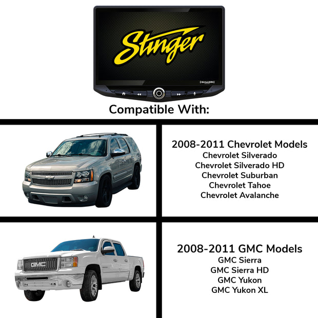 Chevy Silverado and GMC Sierra (2008-2011) Complete Stereo Replacement Kit