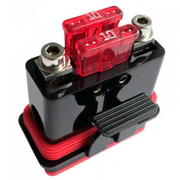 Liquid/Mud/Dust Resistant Certified Mini-ANL /Dual ATC Fuse Holder For 4GA Power Wire