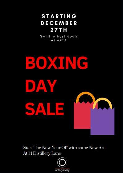 BOXING DAY SALE - December 27