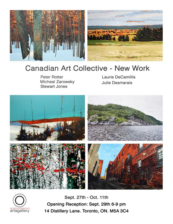 CANADIAN ART COLLECTIVE - NEW WORK - September 27 - October 11, 2016