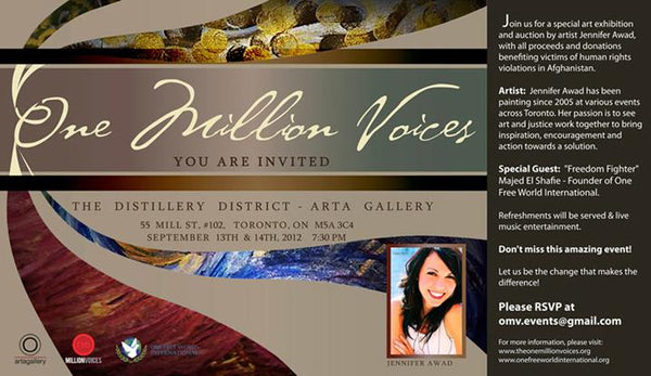 One Million Voices Art Exhibition and Auction - September 13, 2012