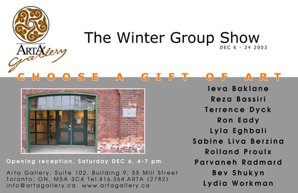 THE WINTER GROUP SHOW - December 6 - 24, 2003