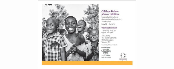 PHOTO EXHIBITION - CHRISTIAN CHILDREN'S FUND OF CANADA - May 22 - June 5, 2019