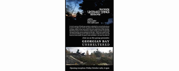 UNTAMED THINGS 2018 - October 19 - 31, 2018