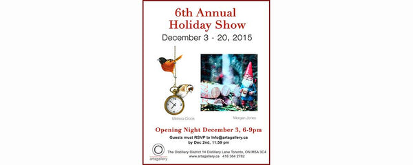 6TH ANNUAL HOLIDAY SHOW - December 3 - 20, 2015