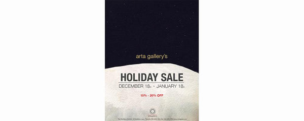 ARTA'S HOLIDAY SALE! 15-20% OFF - December 18 - January 18, 2014