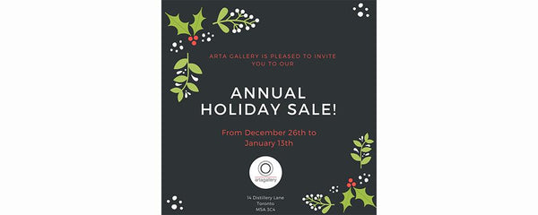 HOLIDAY SALE - December 26 - January 4, 2018