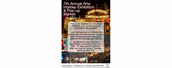 ANNUAL ARTA HOLIDAY EXHIBITION & POP-UP MARKET - November 19 - December 18, 2016