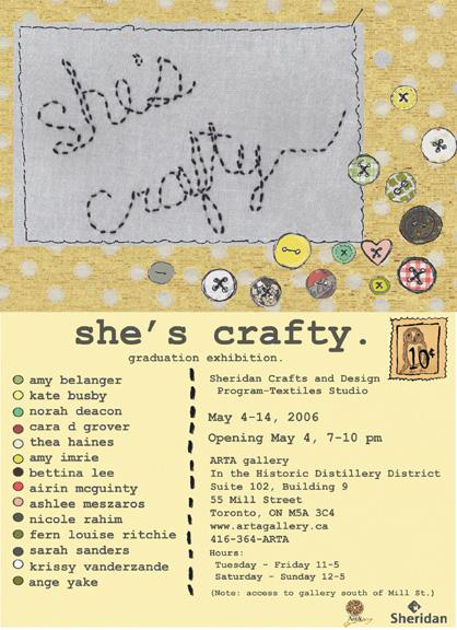SHE'S CRAFTY - May 4 - 14, 2006