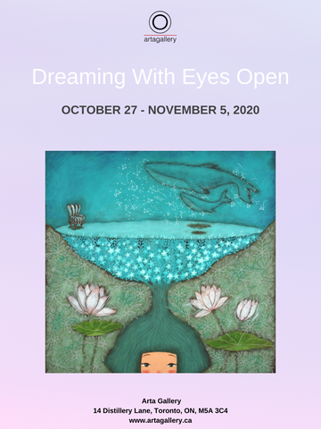 Dreaming With Eyes Open art exhibition flyer
