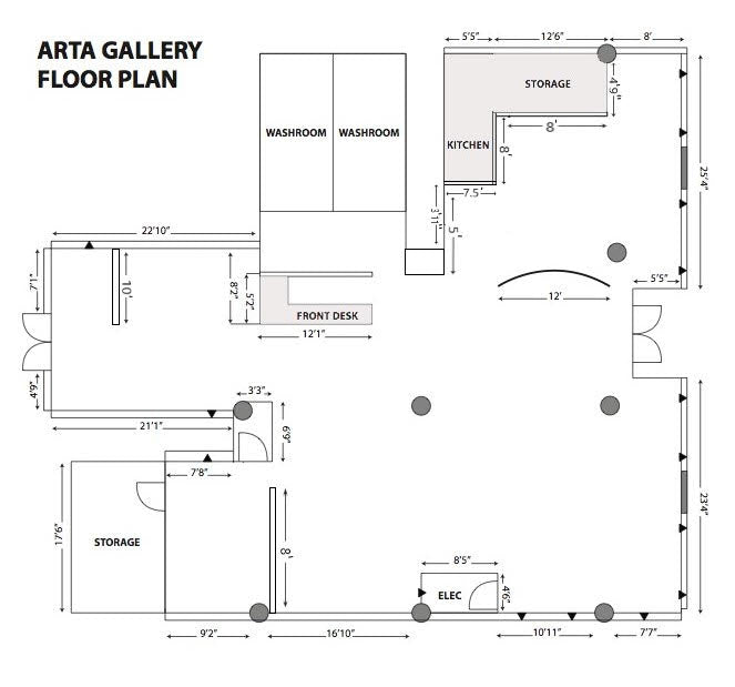 Arta Gallery Floor Plan