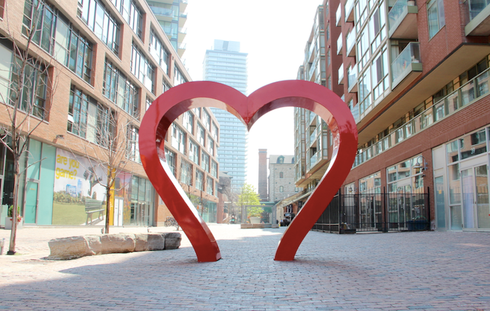 Heart Love Sign Distillery District a Heritage Sight to visit Arta Gallery
