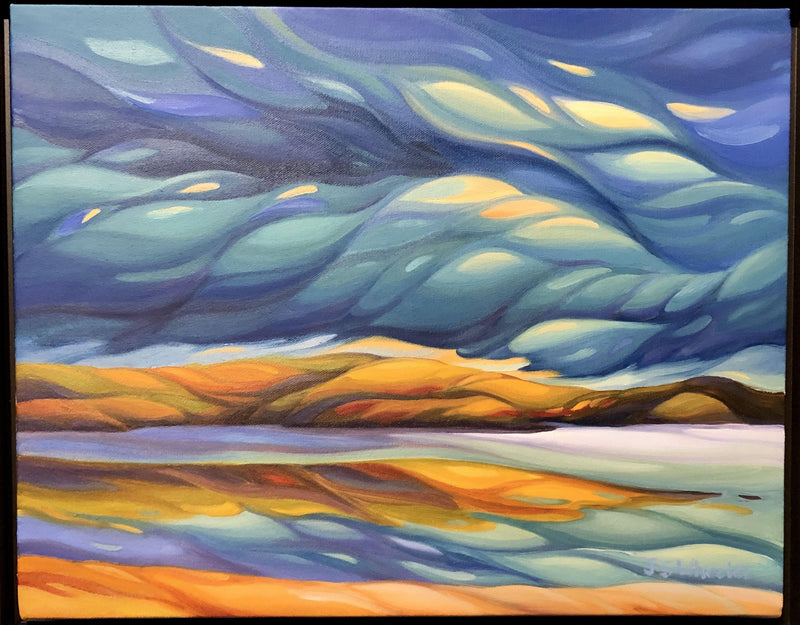 Cache Lake Storm Painting by Jan Wheeler
