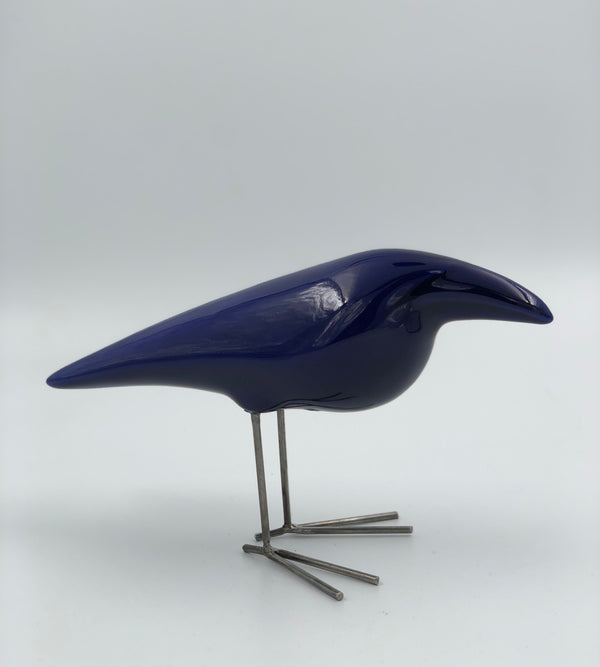 Ceramic Crow Sculpture by Farzad Faraji