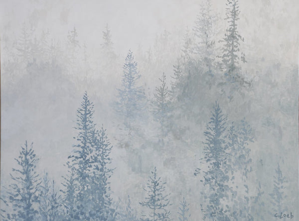 "Enchanted Forest, 30"" x 40"" Painting C. Loeb"
