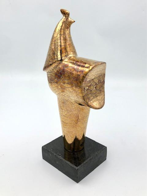 "Gold Rooster, 11"" x 5"" x 3"" Sculpture G. Gallery"