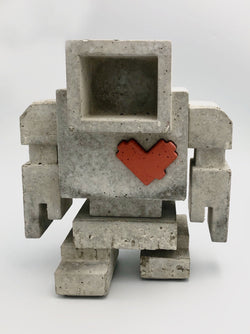 "Lovebot, 12"" x 10"" x 9"" Sculpture M. Del Degan"