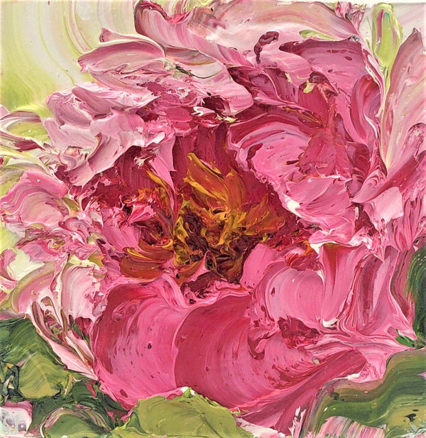 Painting by Stephanie Fehrenbach, Peony No. 1 Painting Arta Gallery in Toronto Distillery
