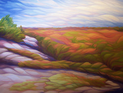 "Rolling Ridge, 36"" x 48"" Painting J. Wheeler"