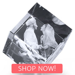 Cut Diamond Cube with Shop Now button
