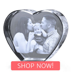 Crystal Heart with Shop Now button
