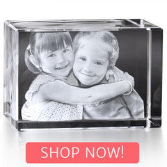 Rectangle Cube with Shop Now button