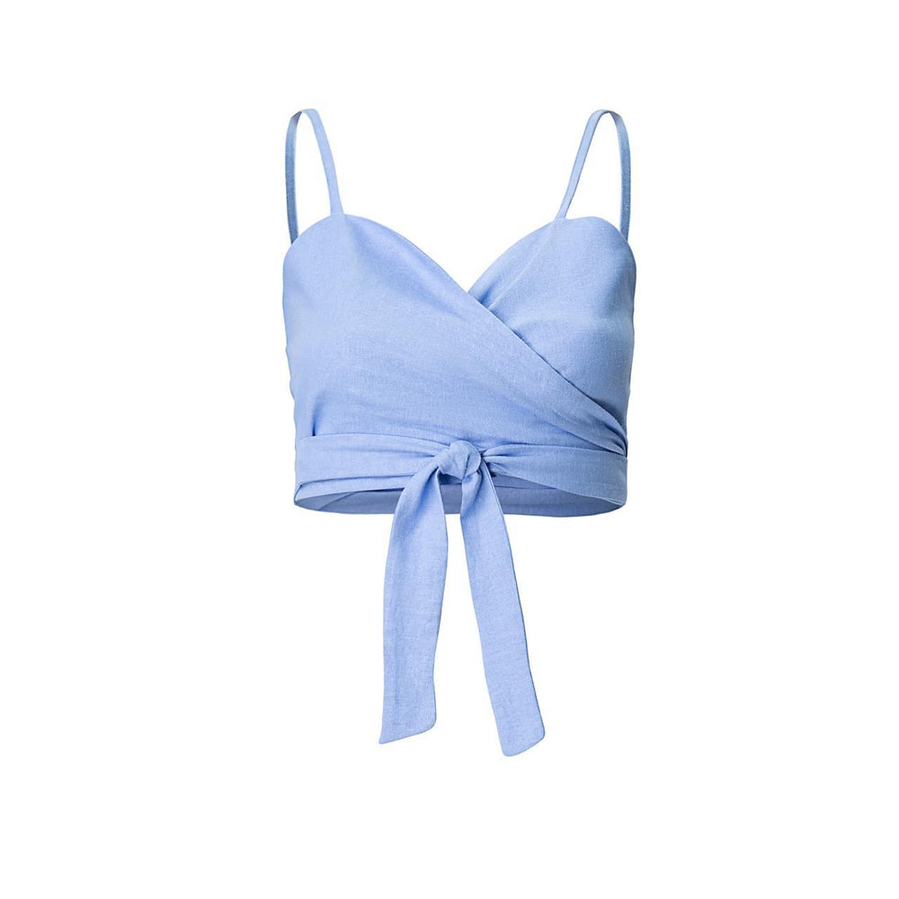 Al Mare Knotting Top in Blue | Resort
