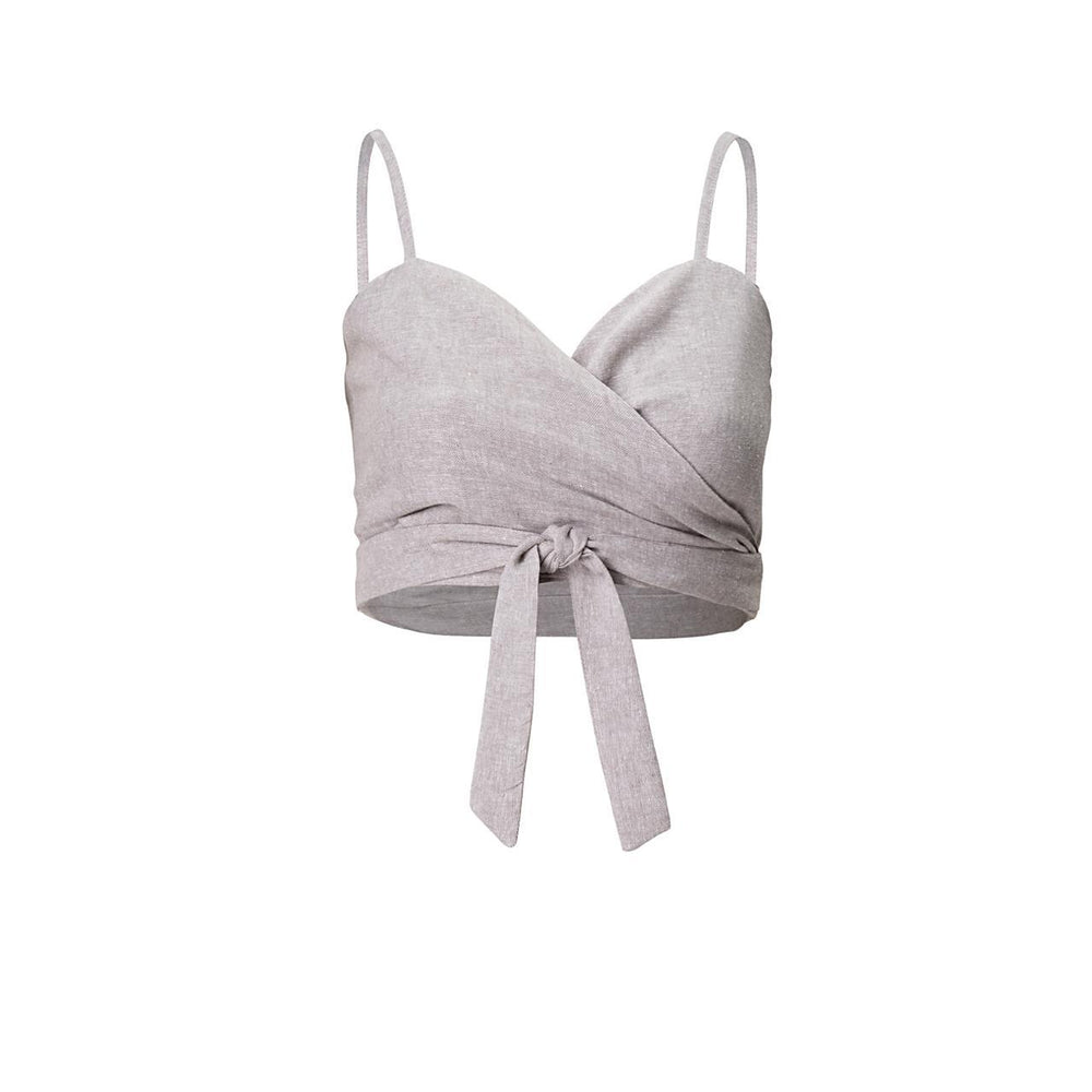 Al Mare Knotting Top in Grey | Resort