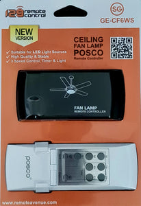 (SG) Authentic Genuine New Posco Peak Ceiling Fan with Light Remote Control Receiver Set GE-CF6WS replace for Boil