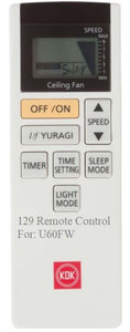 Brand New Original KDK Remote Control for U60FW