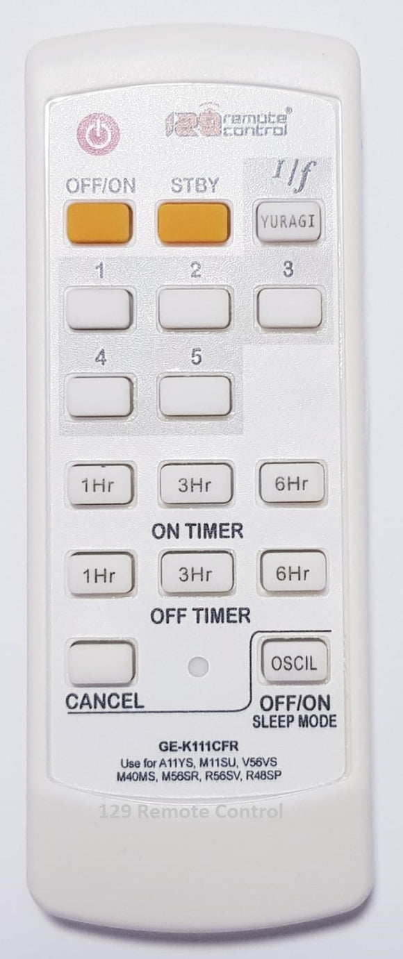 High Quality KDK Remote Control for A11YS - New Substitute