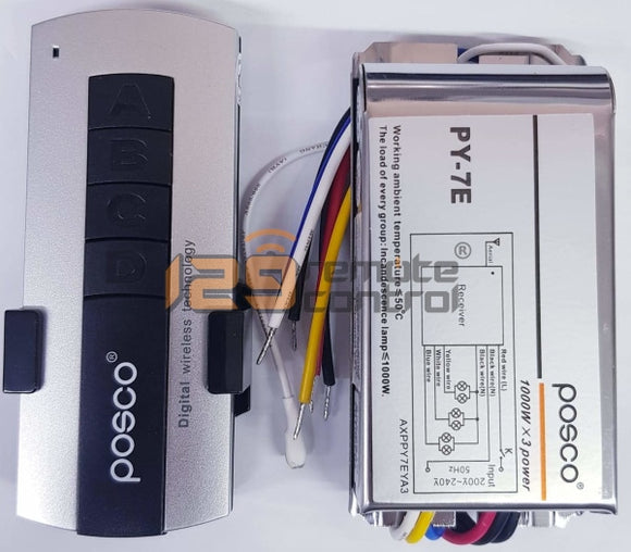 Authentic Genuine New Posco Remote Control For Light (3 Way)