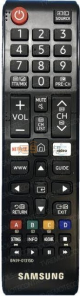 Genuine New Original Samsung Tv Remote Control For Bn59-01315D