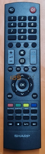(Local Shop) New Genuine Original Sharp Tv Remote Control For (Support Basic Function Only)