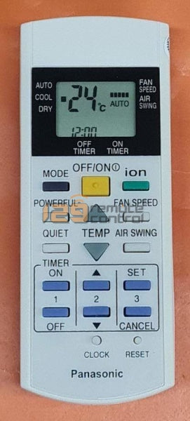 (Local Shop) New High Quality Substitute Panasonic Aircon Remote Control For A75C2600.