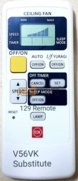 New Substitute Kdk Ceiling Remote Control For V56Vk